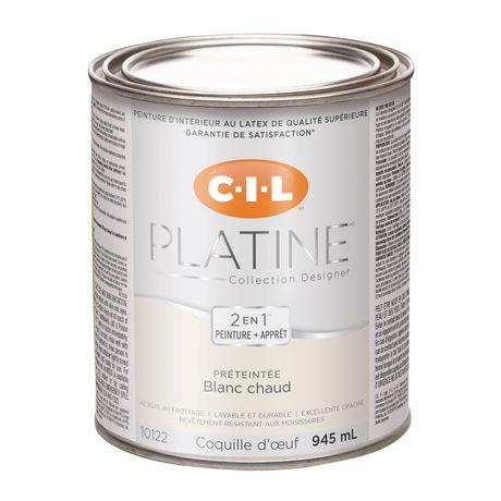 cil md platine md peinture d int rieur pr teint e en format d essai blanc chaud 945 ml. Black Bedroom Furniture Sets. Home Design Ideas