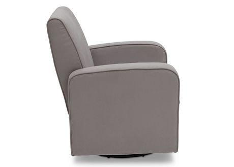 Chaise ber ante coulissante charlotte de delta gris for Chaise bercante walmart