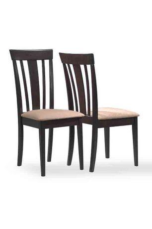 Chaise d appoint en bois massif brun logan de monarch for Chaise d appoint