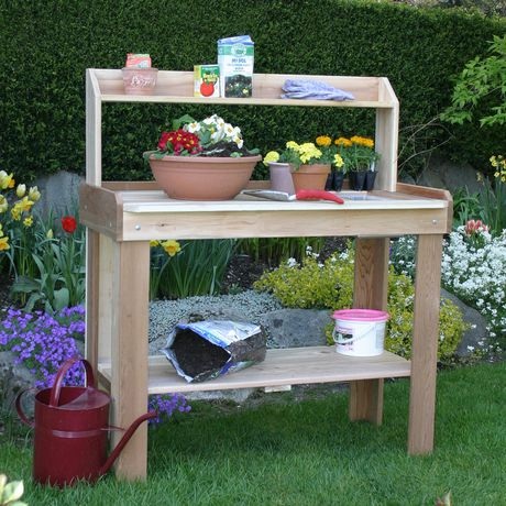 Cedar Potting Bench 4 39 X 2 39