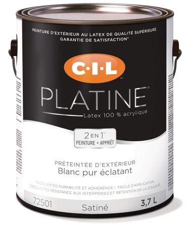 Cil md platine md peinture d ext rieur 100 acrylique for Peinture 100 acrylique exterieur