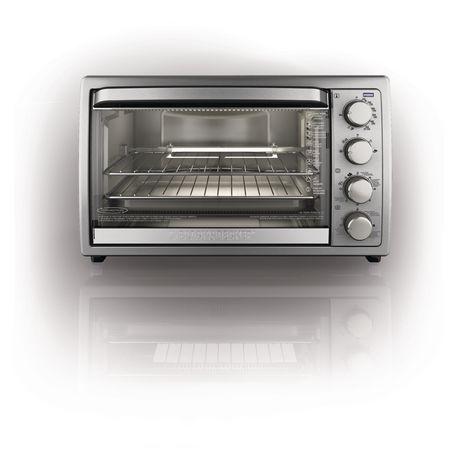 Black Amp Decker Rotisserie Convection Countertop Toaster