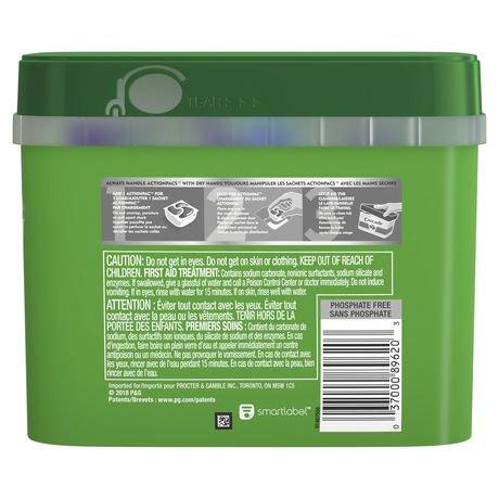 cascade d tergent pour le lave vaisselle actionpacs parfum original 60 unit s walmart canada. Black Bedroom Furniture Sets. Home Design Ideas