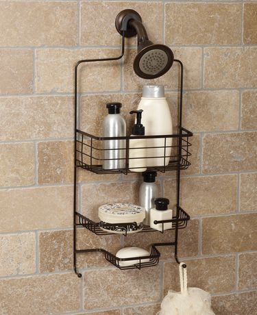 Hometrends Over The Shower Caddy Oil Rubbed Bronze