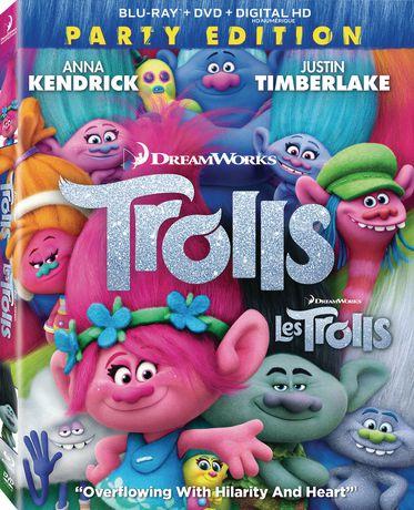 Twentieth Century Fox Trolls (Blu-Ray + Dvd + Digital Hd)(Bilingual)