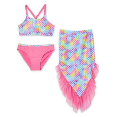 4 2//3 -L Disney Princess Flowers Pink One Piece Swimsuit XXS XS 10