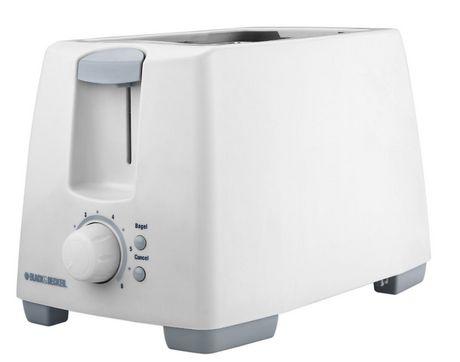 Black Amp Decker 2 Slice Toaster White Walmart Ca