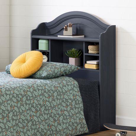 t te de lit biblioth que double de la collection summer breeze de meubles south shore en blanc. Black Bedroom Furniture Sets. Home Design Ideas