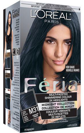 L39Oral Paris Feria Midnight M31 Cool Soft Black Hair Colour  Walmartca