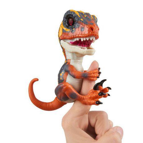 Untamed Raptor By Fingerlings - Blaze (Orange) - Interactive Collectible Dinosaur -...