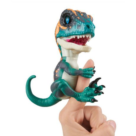 Untamed Raptor By Fingerlings - Fury (Blue) - Interactive Collectible Dinosaur -...