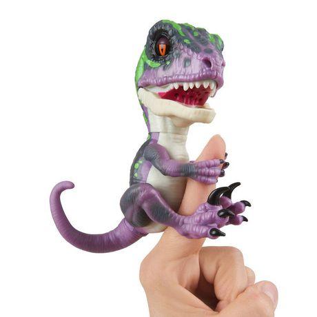 Untamed Raptor By Fingerlings - Razor (Purple) - Interactive Collectible Dinosaur -...