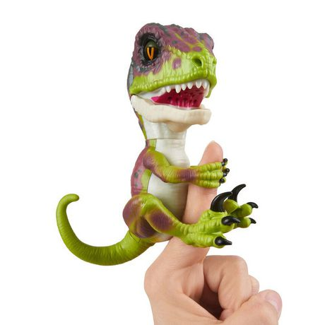 Untamed Raptor By Fingerlings - Stealth (Green) - Interactive Collectible Dinosaur -...