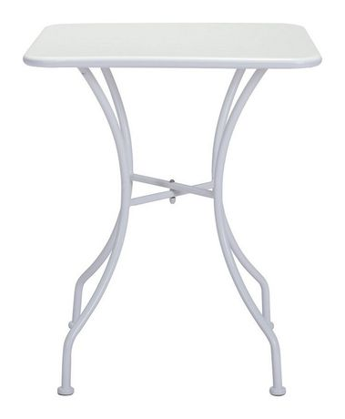 Table manger carr e pour ext rieur 1 pi ce en m tal for Table exterieur walmart