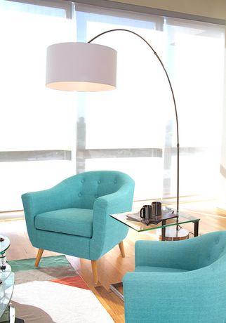 lampe sur pied contemporaine salon par lumisource. Black Bedroom Furniture Sets. Home Design Ideas
