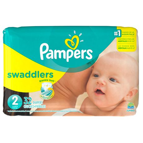 Pampers Swaddlers Diapers Size N 20 Count Pack of 2 (Total of 40 Pampers) Wrap your baby in Pampers Swaddlers diaper so has a color-changing wetness indicator that tells you when your baby might need a change.