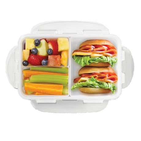 starfrit lock lock bento 1 l lunch container with dividers. Black Bedroom Furniture Sets. Home Design Ideas