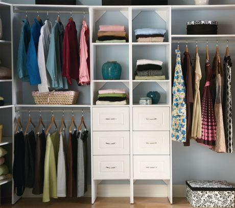 ensemble organisateur pour la garde robe suitesymphony de closetmaid 40 64 cm 16 po blanc. Black Bedroom Furniture Sets. Home Design Ideas