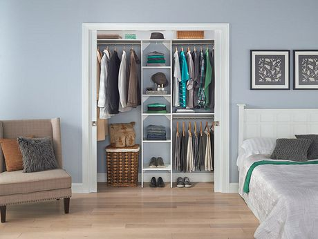 closetmaid suitesymphony 16 inch white closet tower kit. Black Bedroom Furniture Sets. Home Design Ideas