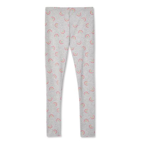 Sizes 18M-6 Deux par Deux Girls Solid Leggings Feathery Friend