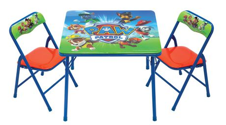 Paw Patrol Activity Table And Chairs Set Walmart Ca