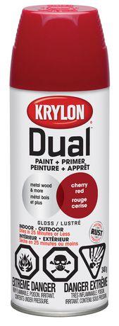 Krylon dual peinture appr t rouge cerise lustr - Peinture rouge cerise ...
