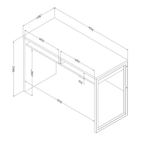 bureau de travail collection interface de meubles south