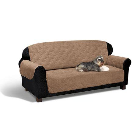 Housse protectrice bois de gr ve en similisu de pour sofa for Housse pour sofa