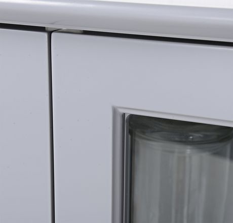 armoire en verre avec 2 portes et 1 tirroir de homestar walmart canada. Black Bedroom Furniture Sets. Home Design Ideas