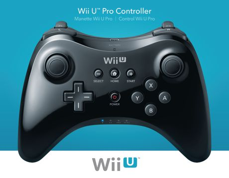 manette wii u pro noire. Black Bedroom Furniture Sets. Home Design Ideas