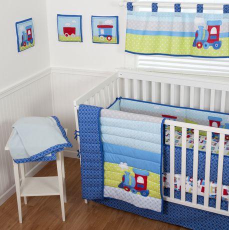Choo Choo Train Crib Bedding Set