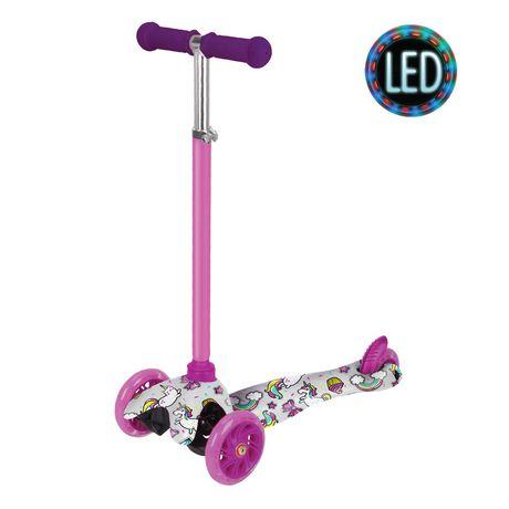 BCP Kids Mini Kick Scooter Jouet Avec Colorful Light-Up roues réglables T-Bar