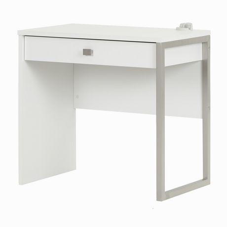 Bureau de travail 1 tiroir interface blanc de meubles for Meuble bureau walmart