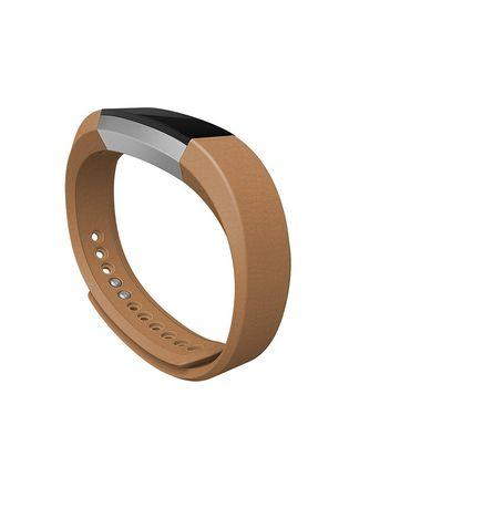 bracelet de sport alta de fitbit en cuir chameau. Black Bedroom Furniture Sets. Home Design Ideas