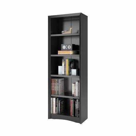 Biblioth que corliving quadra 71 po avec faux fini de bois for Faux fini meuble