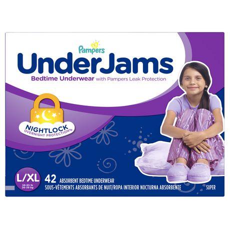 Pampers Underjams Girls Bedtime Underwear Walmart Ca