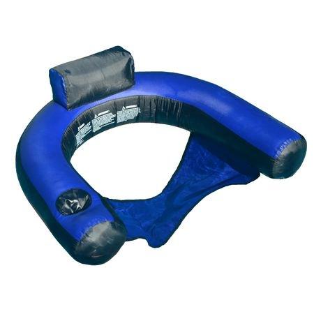 Swimline fabric covered u seat pool inflatable walmart for Chiasse piscine