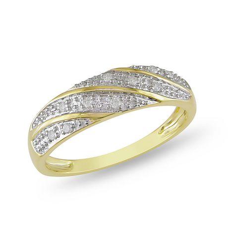 10 ct en or jaune 10 k bague de mariage avec diamants en or jaune 10 k ...