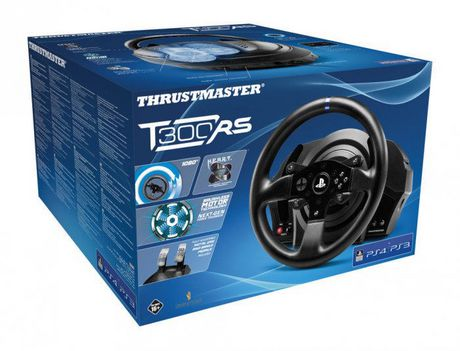 volant pour jeux de course t300rs de thrustmaster pour ps4 ps3 pc. Black Bedroom Furniture Sets. Home Design Ideas