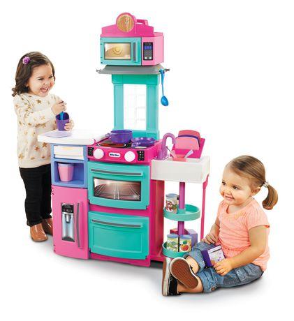 ensemble de jeu de cuisine cook 39 n store de little tikes. Black Bedroom Furniture Sets. Home Design Ideas