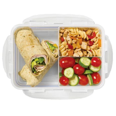 starfrit lock lock bento 1 6 l lunch container with dividers. Black Bedroom Furniture Sets. Home Design Ideas
