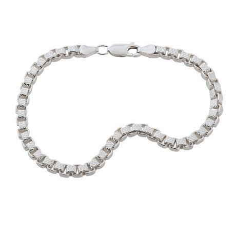sterling silver box chain bracelet 7 188 quot walmart ca