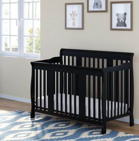 stork craft tuscany fixed side convertible crib espresso