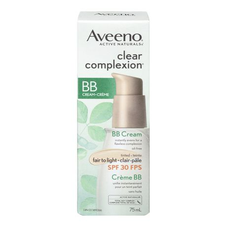 aveeno clear complexion bb cream fair to light 75 ml. Black Bedroom Furniture Sets. Home Design Ideas