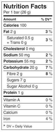 Barres tendres de granola croustade aux pommes Chewy de ... Quaker Granola Bars Nutrition Facts