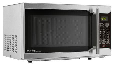 danby designer 0 7 cu ft stainless steel microwave walmart canada. Black Bedroom Furniture Sets. Home Design Ideas
