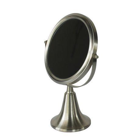 Miroir sur pied en argent bross home trends for Miroir walmart