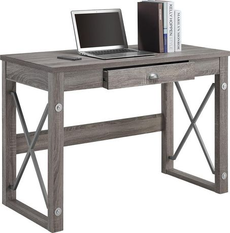 metal writing desk