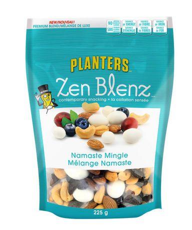 UPC 058716989218 - Planters Zen Blenz Namaste Mingle Premium Blend on trial mix, tortilla mix, snack mix, party mix, soup mix, chex mix, vanilla pudding mix, just mix, planters cheese curls, planters peanuts, chocolate pudding mix, mocha coffee mix, bisquick mix, planters spicy nuts cajun sticks and, planters cocoa almonds,