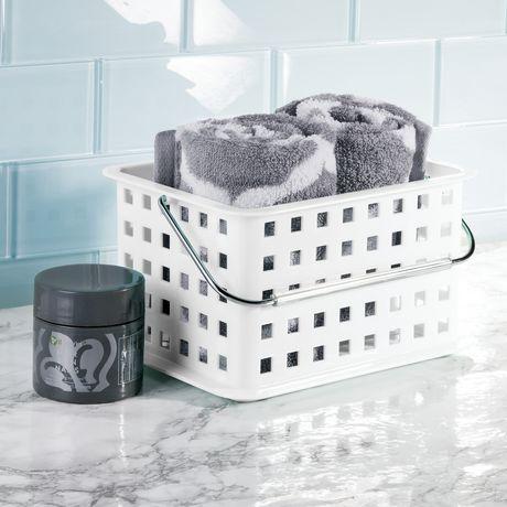 Panier de rangement pour salle de bains de mainstays - Rangement pour salle de bain ...